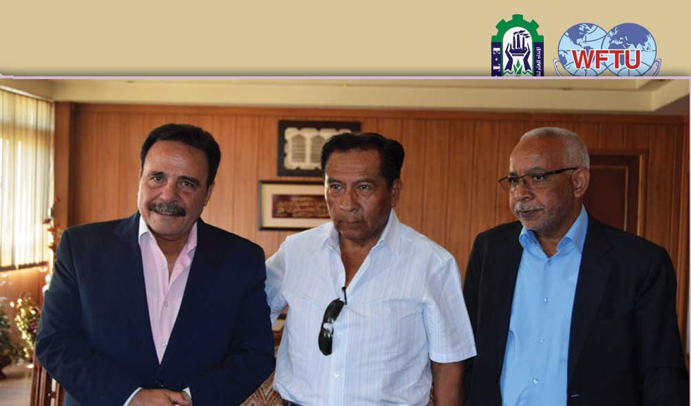 El Maraghy meets the vice president Of WFTU