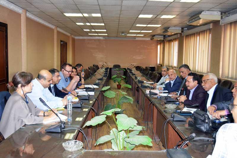 ETUF leaders Meeting with ILO Mission