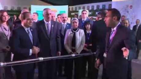 طارق عامر: جولة الرئيس في جناح القطاع المصرفي حافز قوي للبنوك