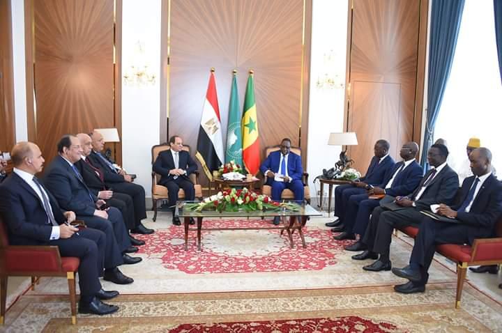 السيسى يتفق مع رئيس السنغال على تطوير علاقات البلدين سياسيا واقتصاديا وأمنيا
