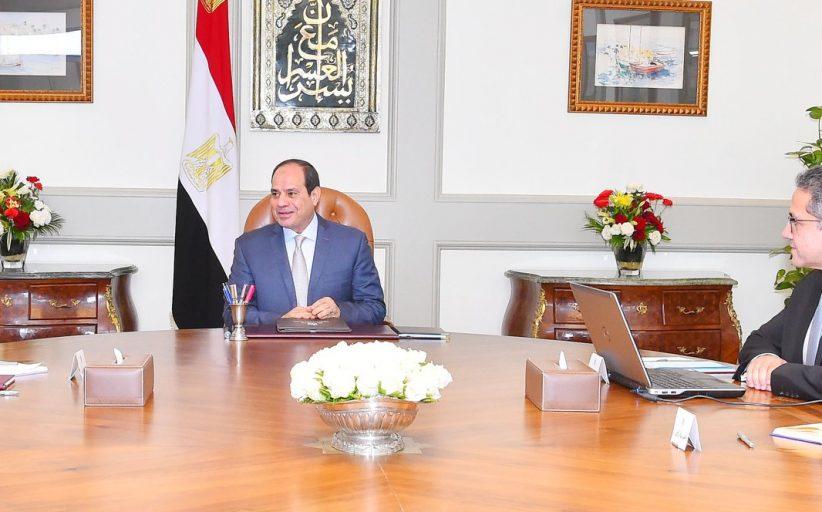 الرئيس السيسي يوجه بالارتقاء بالخدمات وبالمواقع الأثرية والمتاحف على مستوي الجمهورية