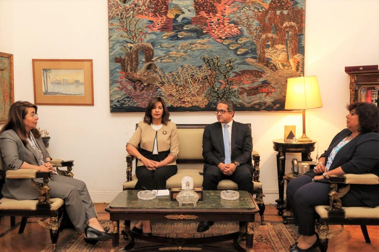وزراء الثقافة والهجرة والتضامن والاثار يضعون الخطة الأولية للاحتفال بشهر الحضارة المصرية فى يوليو بكندا