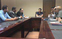 صبحى يستعرض مع مديرى الاستادات اللمسات الأخيرة قبل بطولة كأس الأمم الأفريقية