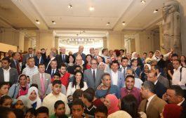 """وزراء الرياضة والآثار والسياحة يفتتحون معرض """"الرياضة عبر العصور"""" بمناسبة الاحتفال باستضافة مصر بطولة كأس الأمم الافريقية 2019"""