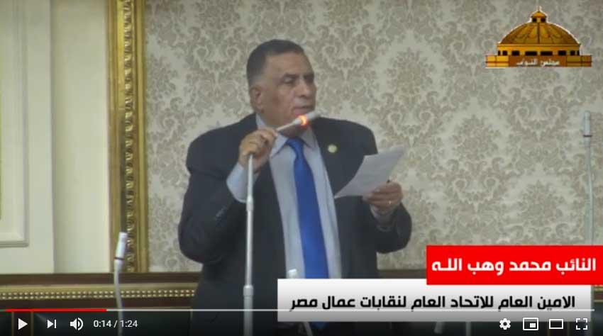 شاهد ماذا طالب النائب محمد وهب اللـه من رئيس الوزراء
