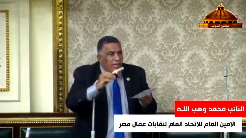 """وهب اللـه يطالب وزير قطاع الاعمال العام بإعادة النظر فى شأن """"المصرية للأدوية"""""""