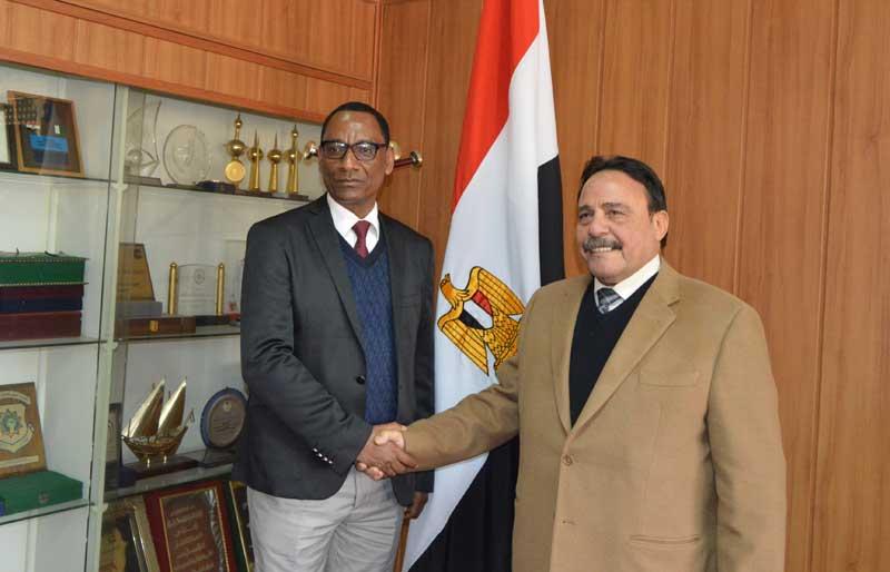 وقائع جلسة المباحثات بين رئيسى اتحادى عمال مصر واثيوبيا