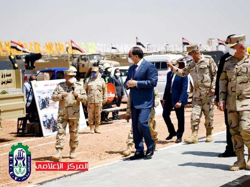 """الرئيس السيسى: بتعاوننا وتكاتفنا سنعبر تحدى """"كورونا"""""""