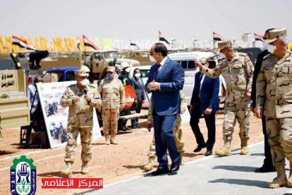 الرئيس يتفقد استعدادات القوات المسلحة لمواجهة كورونا