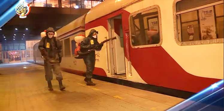 فيديو: القوات المسلحة تنفذ عمليات تعقيم وتطهير لأشهر ميدان فى مصر