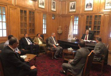 اجتماع نقيب المحامين بمحاميى الفيوم